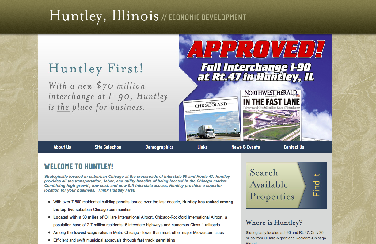The Village also announced the launch of huntleyfirst.com an economic development site to promote businesses.