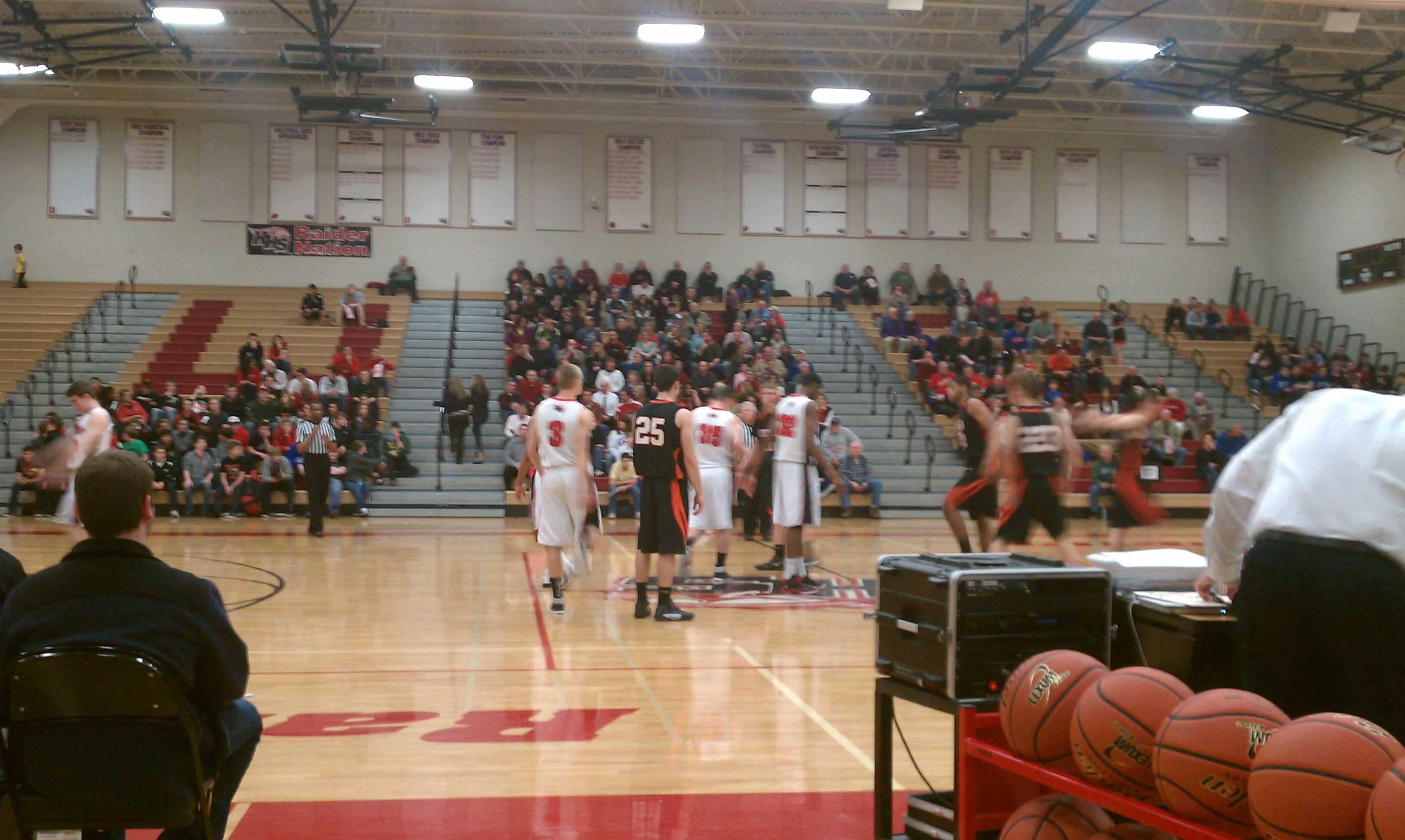 Huntley High School won a 40-37 victory over DeKalb and advanced into the regional championship game (T. Heagney).