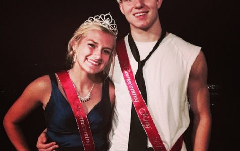 Courtney Kampert and Zach Gorney crowned Homecoming King and Queen. Courtesy of Courtney Kampert