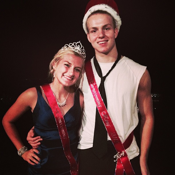 Courtney+Kampert+and+Zach+Gorney+crowned+Homecoming+King+and+Queen.+Courtesy+of+Courtney+Kampert