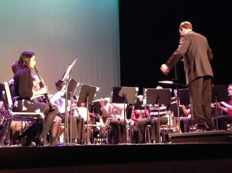 The Wind Ensemble B performs in their holiday concert (M. Wilson).