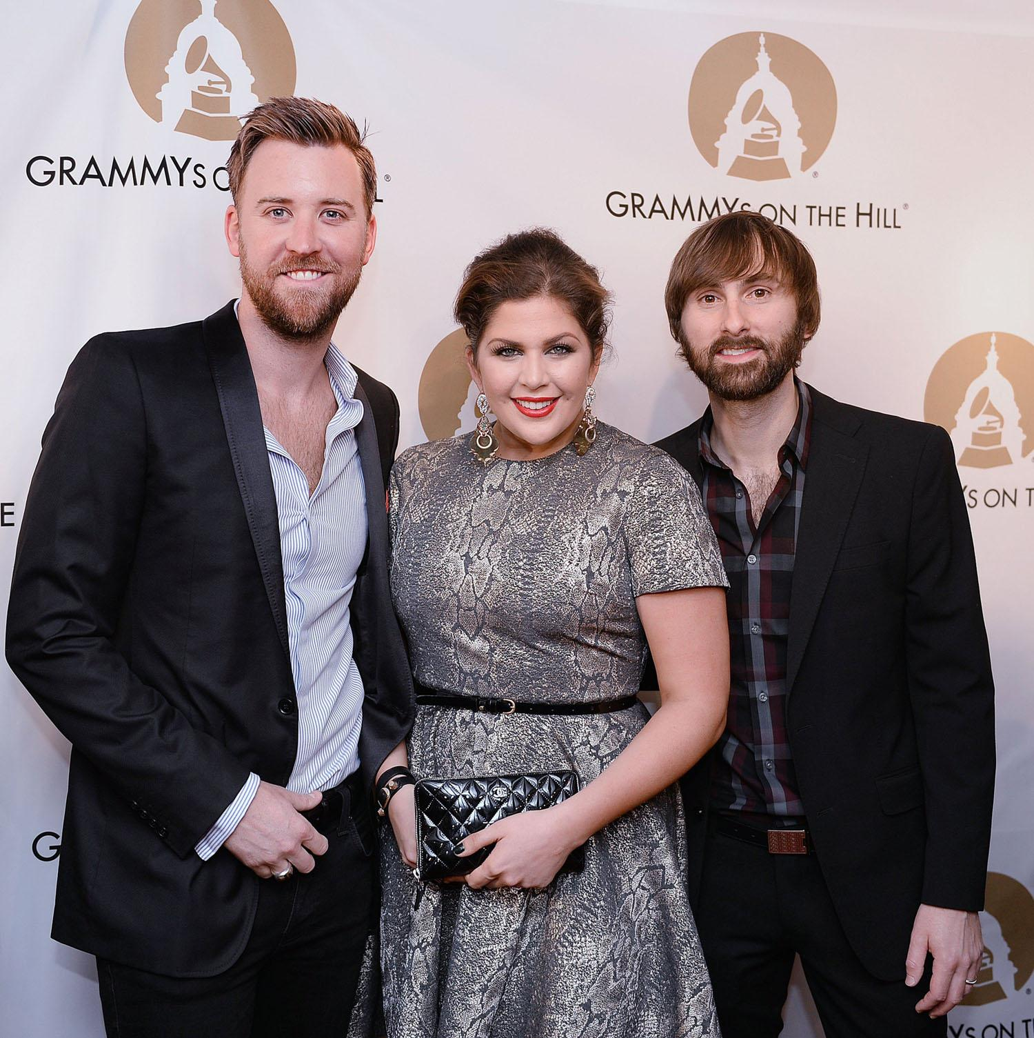 Lady Antebellum's Charles Kelley, from left, Hillary Scott and Dave Haywood attend the Grammy's on the Hill in Washington, D.C., on Wednesday, April 2, 2014. (Olivier Douliery/Abaca Press/MCT)