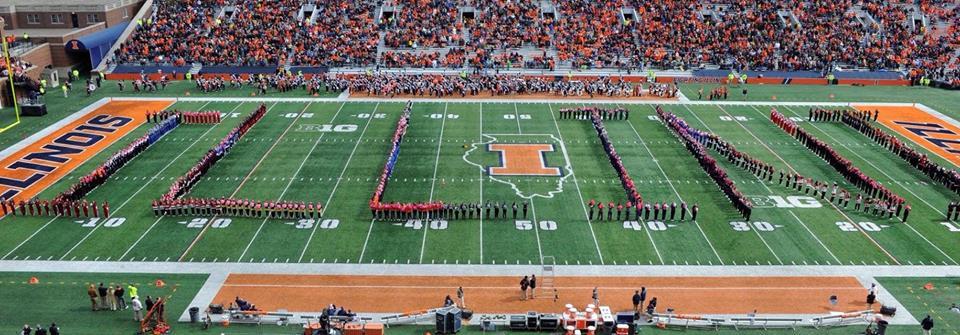 Cheerleaders at the University of Illinois