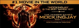 Movie Poster for The Hunger Games: Mockingjay Part I (Courtesy of www.facebook.com/TheHungerGamesMovie/)