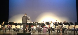 Wind ensemble blows the night away