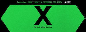 """Ed Sheeran's recent album """"X""""featuring the song """"Thinking Out Loud"""" (Courtesy of facebook.com/EdSheeranMusic)"""