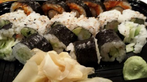 The Maki Special with the California Roll, and Cucumber Roll. All at Bistro Wasabi (Courtesy of M. Iqbal).