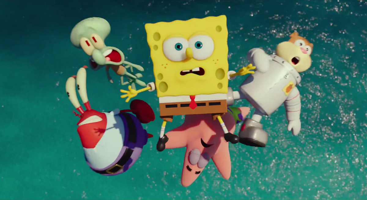 Bubbles And Superheros Spongebob Squarepants Sponge Out Of Water Movie Review The Voice