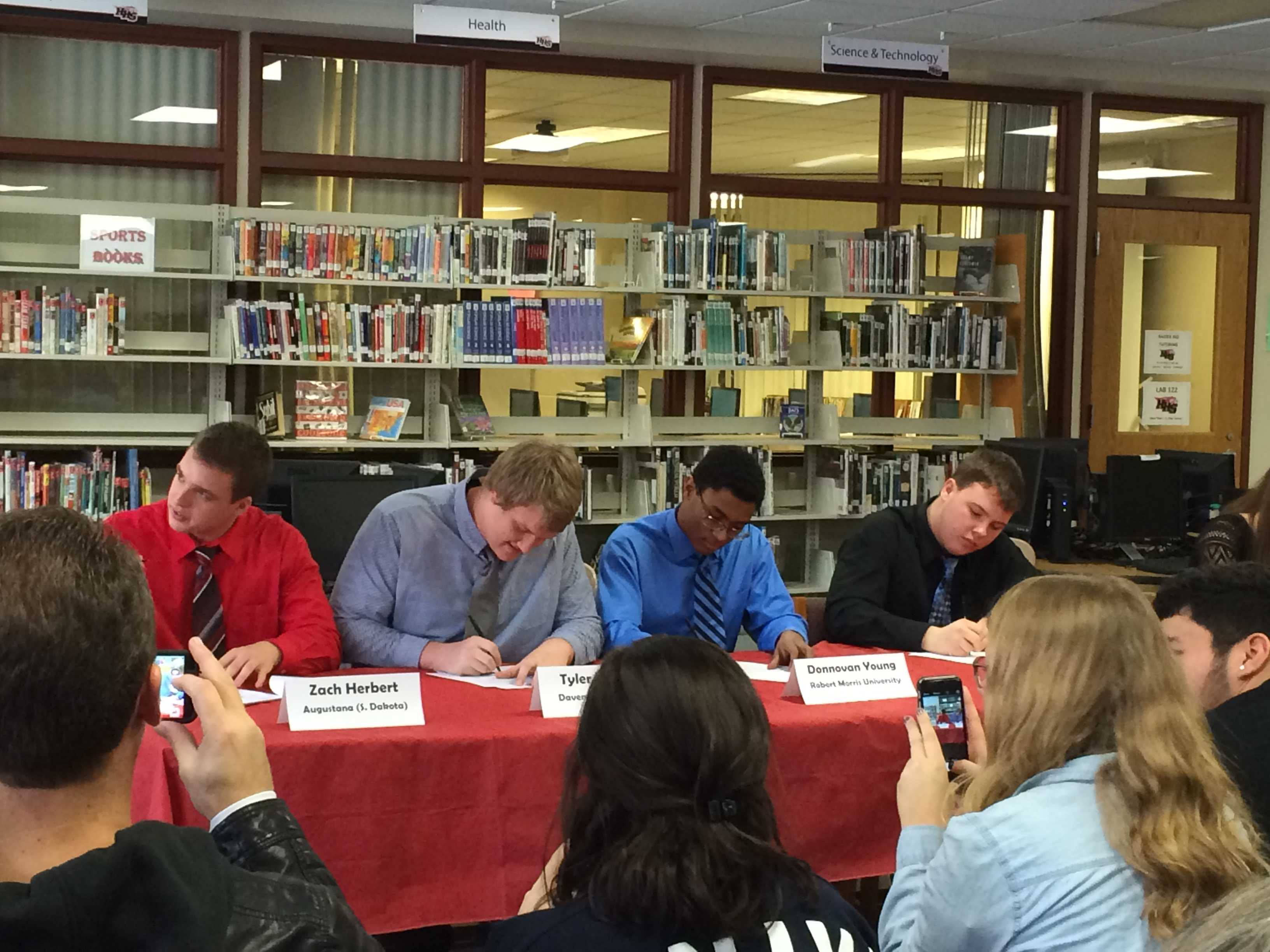Huntley High School Seniors Sign Letters Of Intent  The Huntley