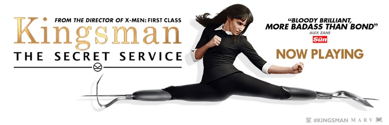 "New poster for the hit movie ""Kingsman: The Secret Service"" in theaters now (Courtesy of  facebook.com/KingsmanMovie)"