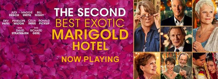 """The Second Best Exotic Marigold Hotel"" pleases mature audiences, in theaters now (Courtesy of  www.facebook.com/marigoldhotel)."