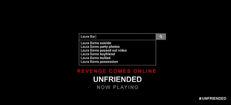 """Unfriended"" leaves audiences questioning many things (Courtesy of www.facebook.com/UnfriendedMovie?fref=ts)."