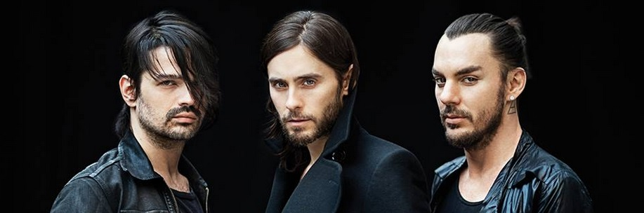 30 Seconds to Mars posing for their most recent album release (Courtesy of www.facebook.com/thirtysecondstomars).