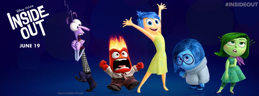 "Let your emotions take over with ""Inside Out"", in theaters June 18 (Courtesy of www.facebook.com/PixarInsideOut?fref=ts)."