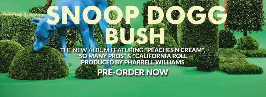 "Snoop Dogg transports listeners back to the '70s with ""Bush"" (Courtesy of www.facebook.com/snoopdogg?fref=ts)."