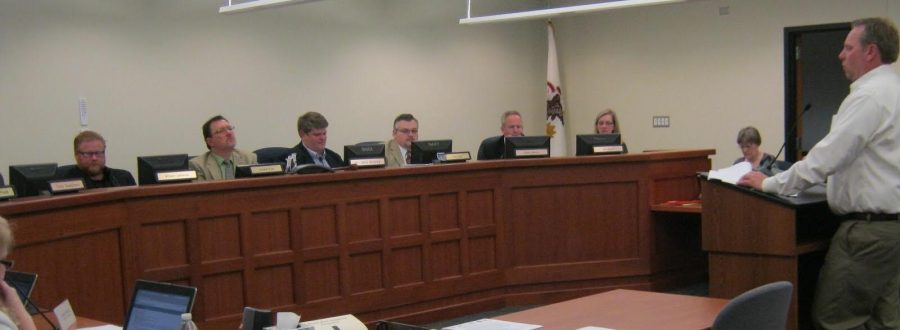 The+BOE+members+discussing+important+topics+at+the+Oct.+15+meeting.%0A