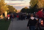 Students involved in clubs and sports show off their Huntley pride at the annual Homecoming Parade.