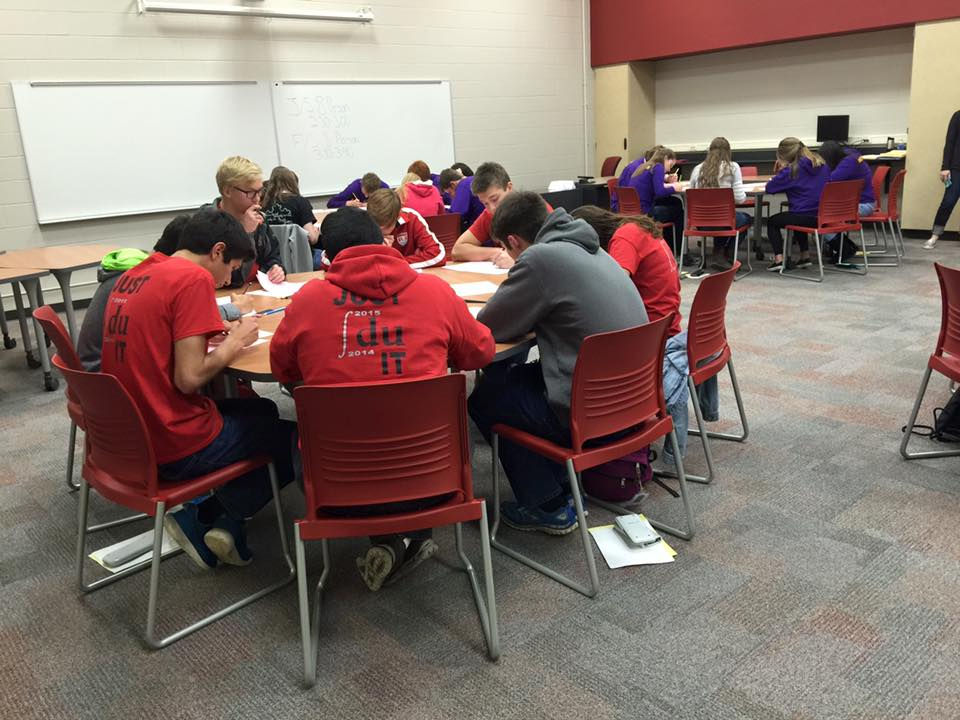 Huntley Places First at Math Team Invite