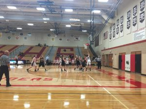 Abbey Brown finishes a lay-up versus Jacobs. The Red Raiders won 76-46.