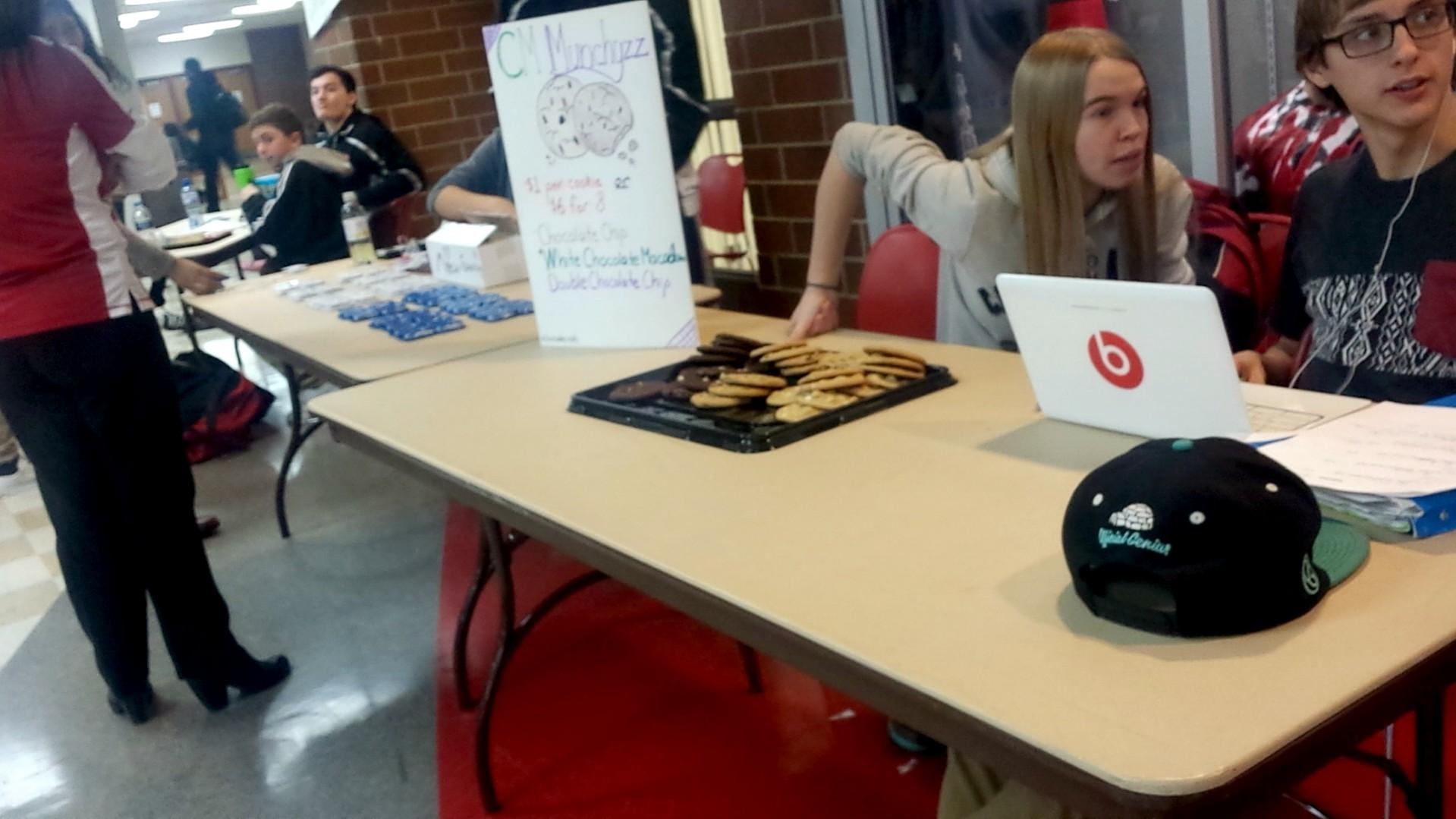 Senior Caitlin Phillips sells Subway cookies, called 'CM Munchies.""