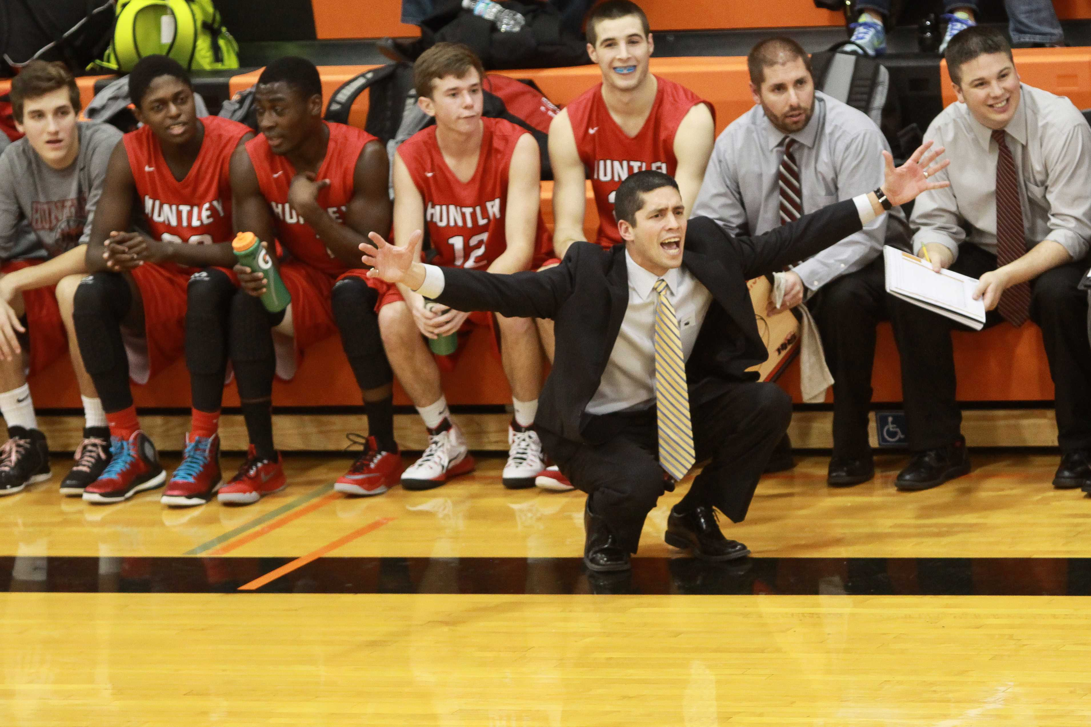 Huntley boys basketball opens conference play with a bang