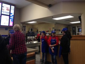 Members of HHS's Marching Band volunteered at Culver's