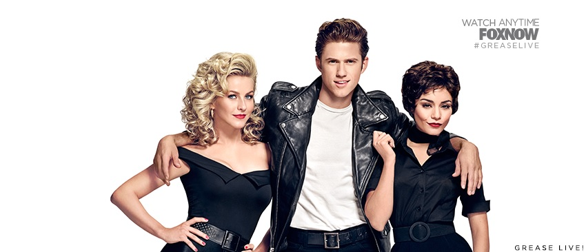 "Members of ""Grease Live"" pose for a promo of the musical (Courtesy of www.facebook.com/gogrease/photos)."
