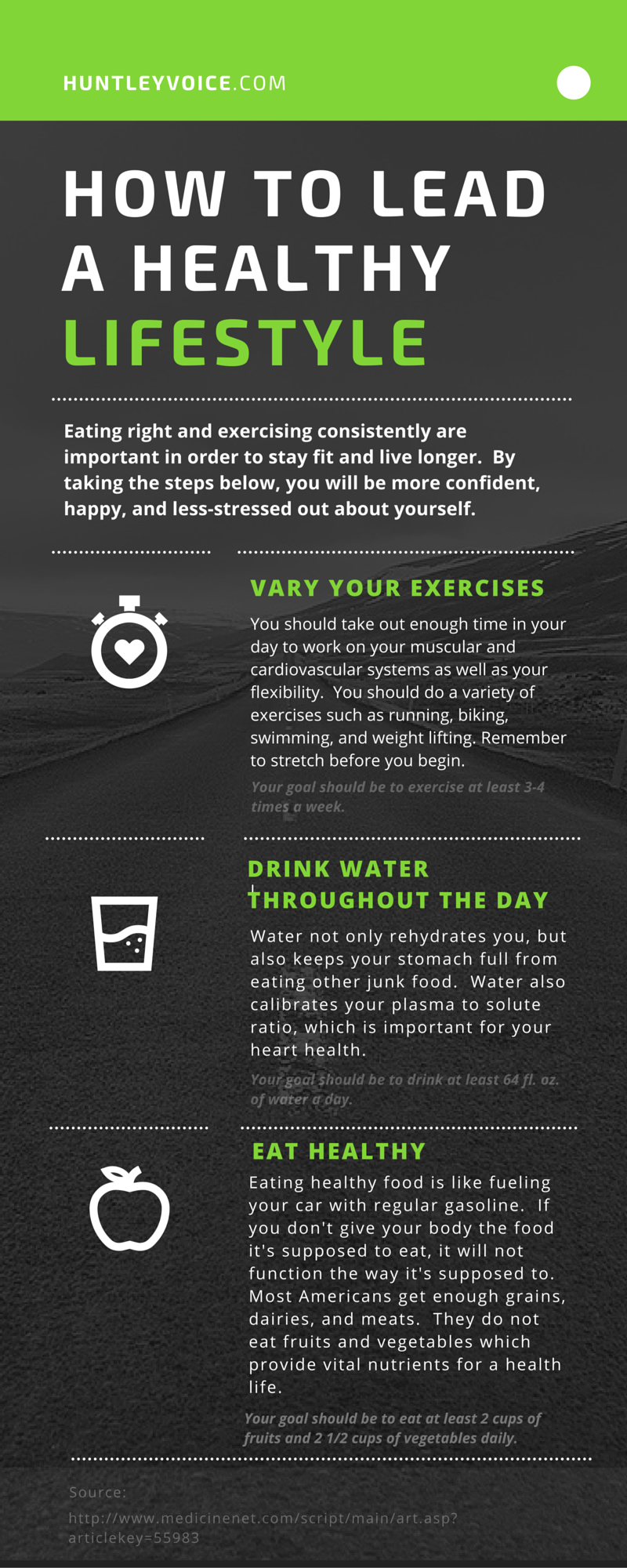how to lead a healthy lifestyle Different ways to stay healthy: • although it might get hard to balance between physical activity, social life and exams, it is not so difficult to.