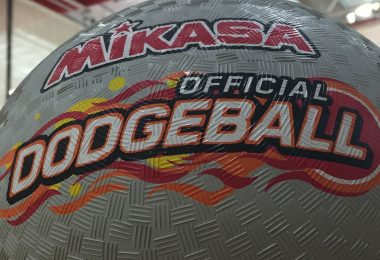 One of the many dodge balls used for today's fundraiser for Justin Domingo (D.Martin).