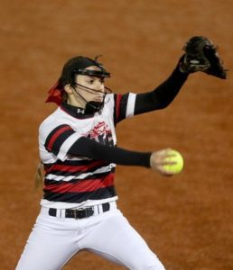 Sophomore Tiffany Giese has a 2.35 ERA, 144 strikeouts, and holds her opponents to a .229 batting average (Courtesy of Sarah Nader/nwherald.com).