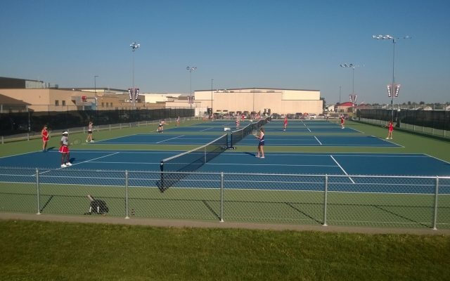Huntley High School girls tennis defeated Cary Grove Thursday night with a team score of 5-2 (J. Barker).