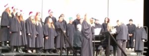 Concert choir takes the stage during their concert (S. Biernat)