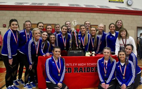 HHS Poms celebrates their 2nd placement at State with Pep Assembly