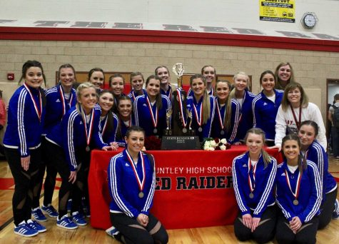 HHS varsity pom squad (Photo courtesy of E. Pilat)