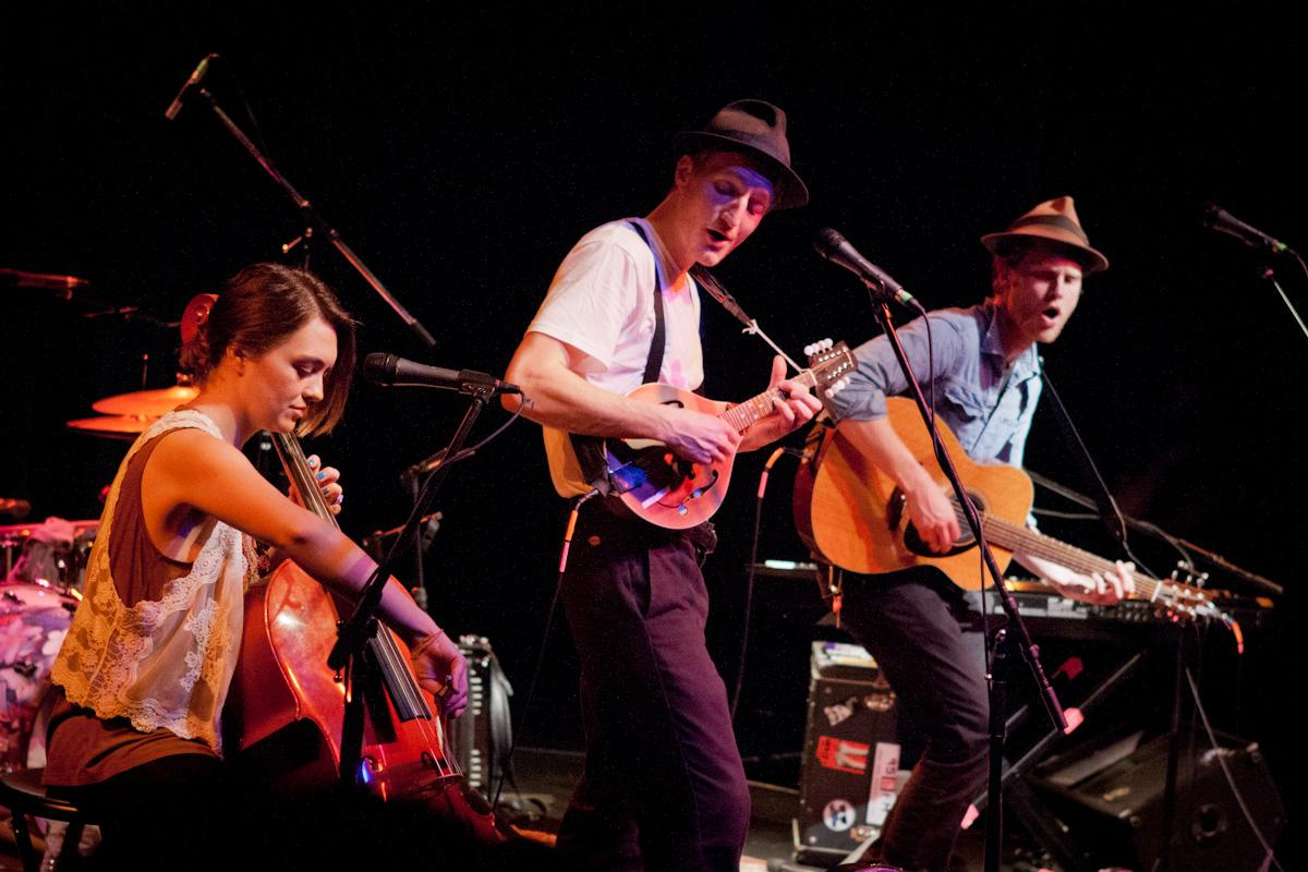 The Lumineers performing in concert (Courtesy of Wikimedia Commons).