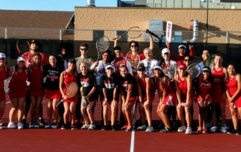 Huntley girls tennis silence the Thunderbirds as they conclude regular season