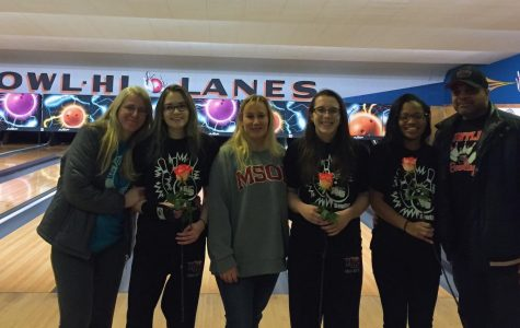 Huntley girls bowling is beaten by the Bulldogs on Senior Night