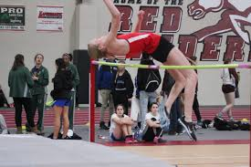 Senior Mckenzie Krich clearing 4 feet 8 inches in high jumping.