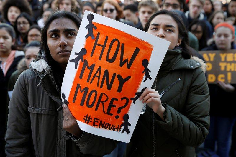 Students+in+New+York+City+participating+in+the+National+School+Walkout.+%28Photo+credit%3A+Reuters%2FShannon+Stapleton%29
