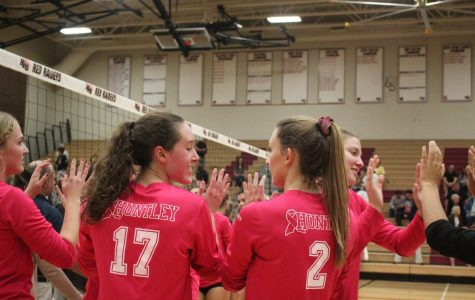 Girls Volleyball for Breast Cancer Awareness by Elizabeth Kim