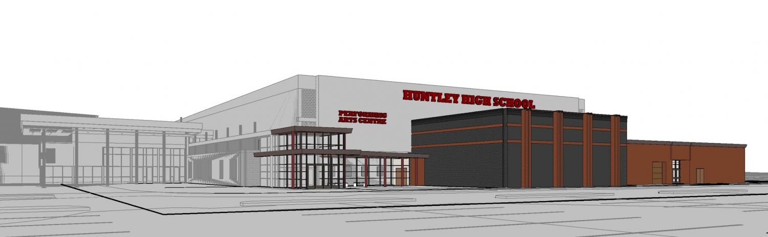 Exterior view of the new entrance and theater