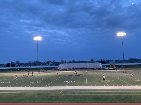 Varsity girls lacrosse holds their own against Barrington High School