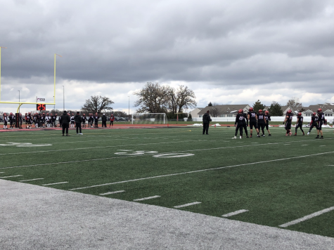 Huntley football wins first round of playoffs