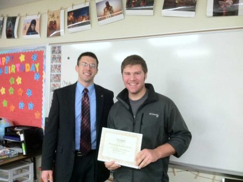 'Student of the Semester' Award Presented at Huntley High School