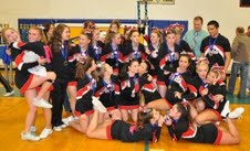Huntley High School's Cheerleading squad enjoy themselves at their last competition. (Sophie Murk, Voice)