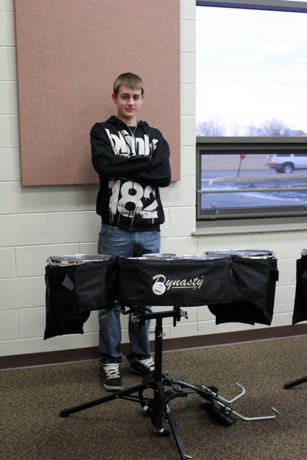 Senior Nick Fangman remains persistent in his love for percussion (H. Sturckey).