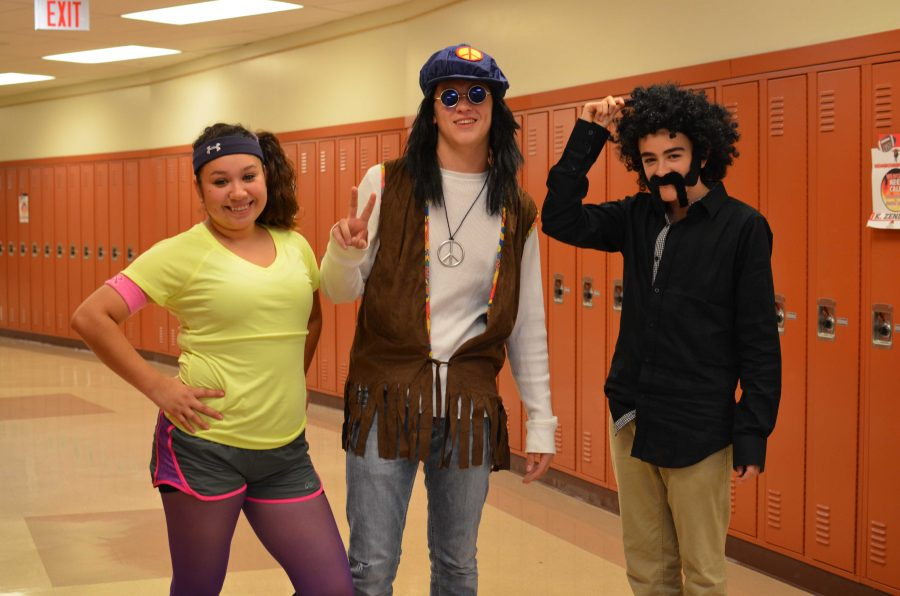 Students+showed+off+their+vintage+wear+on+Decades+Day.