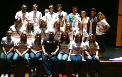 Huntley High School's most prominent leaders pose for a picture at Hampshire High School (photo courtesy of Michelle Caputi).