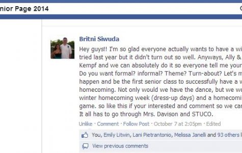 The 2014 senior page booms about the request of another dance coming in the fall.
