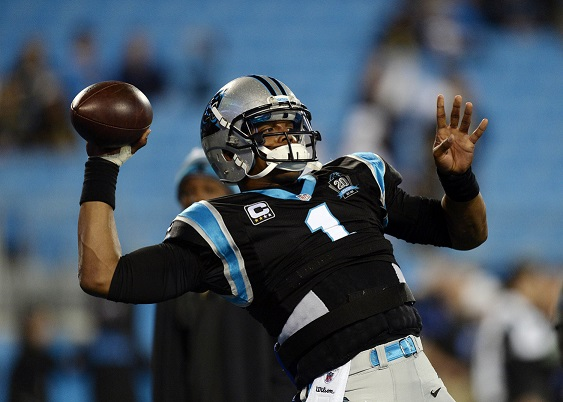 Cam Newton throws a pass against the Saints (MCT Campus)